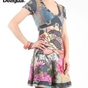 DESIGUAL Valentine short sleeve A-line print dress
